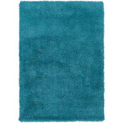 Hallum Hand-Woven Sky Blue Area Rug Rug Size: Rectangle 5 x 7