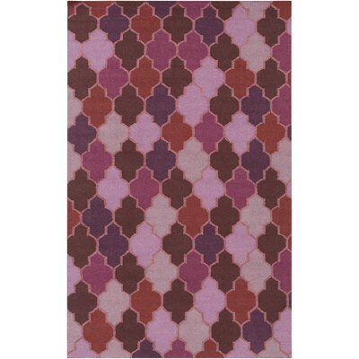 Crispin Hand Woven Eggplant Area Rug Rug Size: Rectangle 36 x 56
