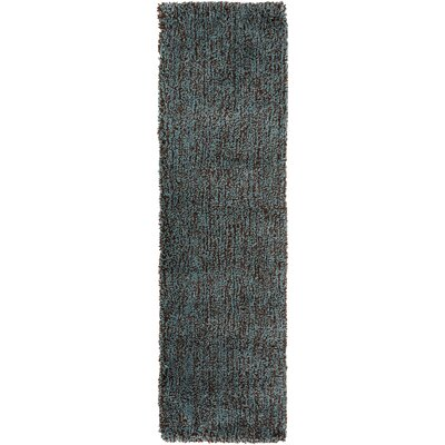 Hallum Dark Robins Egg Blue/Coffee Bean Rug Rug Size: Runner 23 x 8
