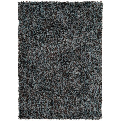 Hallum Dark Robins Egg Blue/Coffee Bean Rug Rug Size: 76 x 96