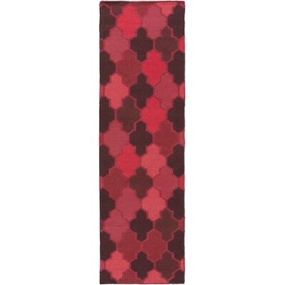 Crispin Cherry Geometric Area Rug Rug Size: Runner 26 x 8