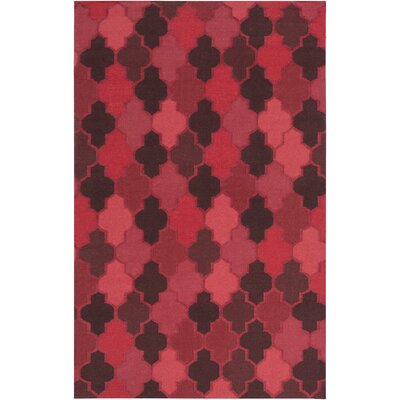 Crispin Cherry Geometric Area Rug Rug Size: Rectangle 2 x 3