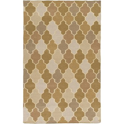 Crispin Olive Geometric Area Rug Rug Size: Rectangle 5 x 8