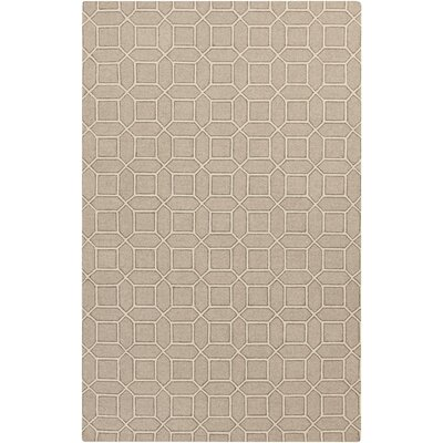 Brock Gray/Beige Geometric Area Rug Rug Size: Rectangle 5 x 76