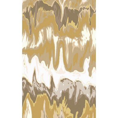 Scylla Ivory/Gold Area Rug Rug Size: Rectangle 33 x 53