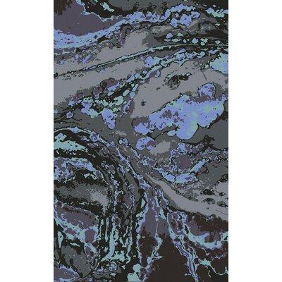 Scylla Charcoal/Cobalt Area Rug Rug Size: 5 x 8