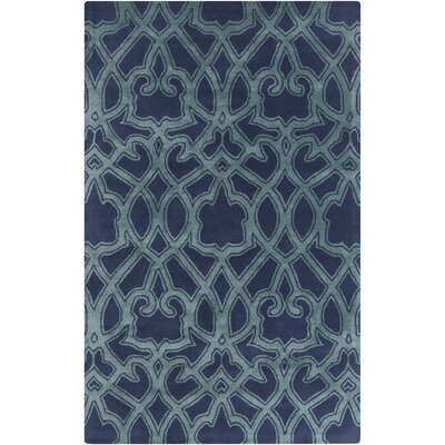 Findley Hand-Tufted Navy/Teal Area Rug Rug Size: Rectangle 5 x 8
