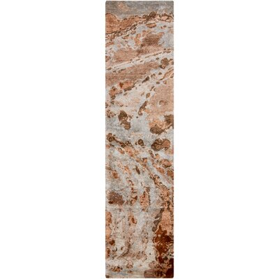 Scylla Rust/Taupe Area Rug Rug Size: Runner 26 x 8