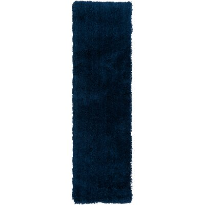 Hallum Hand Woven Sapphire Blue Area Rug Rug Size: Runner 23 x 8