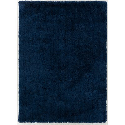 Hallum Midnight Blue Area Rug Rug Size: 76 x 96