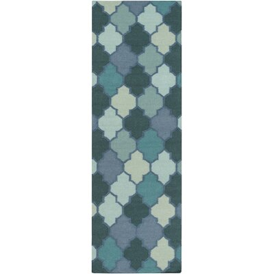 Crispin Mint Geometric Area Rug Rug Size: Runner 26 x 8