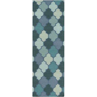 Crispin Mint Geometric Area Rug Rug Size: Runner 26 x 8