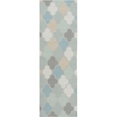 Crispin Geometric Moss Area Rug Rug Size: Runner 26 x 8