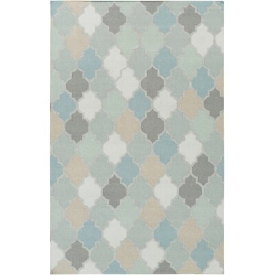 Crispin Geometric Moss Area Rug Rug Size: Rectangle 5 x 8