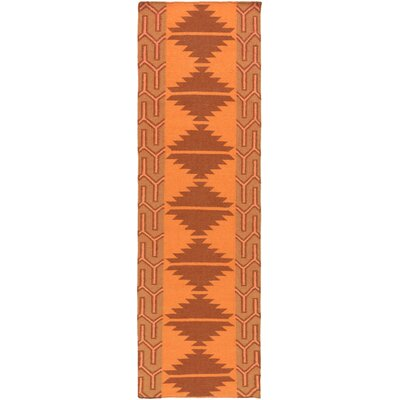 Lewis Burnt Orange Area Rug Rug Size: Runner 26 x 8