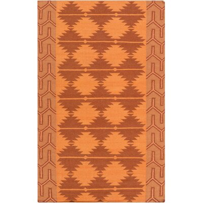 Lewis Burnt Orange Area Rug Rug Size: 36 x 56