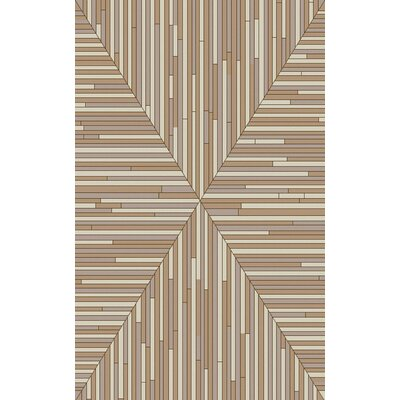 Denver Taupe/Beige Area Rug Rug Size: Rectangle 8 x 10