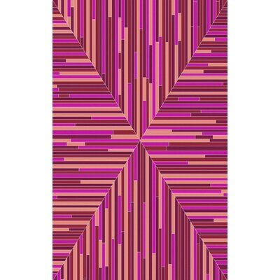 Denver Hand-Woven Cherry/Pink Area Rug Rug Size: Rectangle 8' x 10'