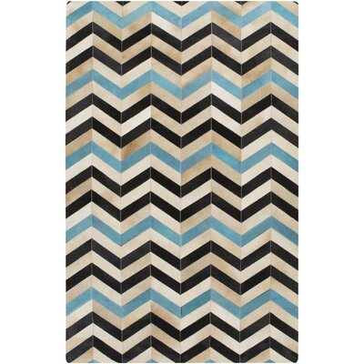 Denver Hand-Crafted Teal Area Rug Rug Size: 5 x 8