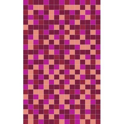 Denver Hand-Woven Cherry/Magenta Area Rug Rug Size: Rectangle 2 x 3