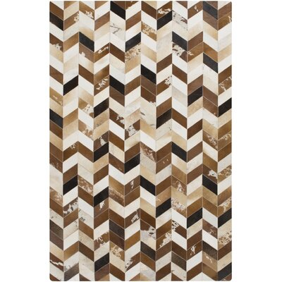 Galarza Hand-Crafted Brown Area Rug Rug Size: 8 x 10