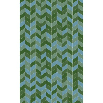Denver Kelly Green/Teal Area Rug Rug Size: Rectangle 5 x 8