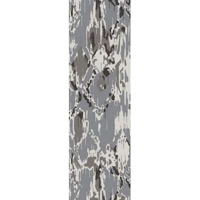 Harbor View Black/Gray Area Rug Rug Size: Runner 26 x 8