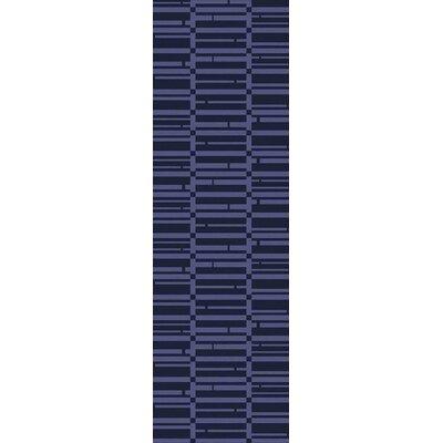 Jone Navy/Iris Area Rug Rug Size: Runner 26 x 8