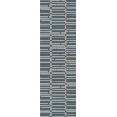 Jone Teal/Slate Area Rug Rug Size: Runner 26 x 8