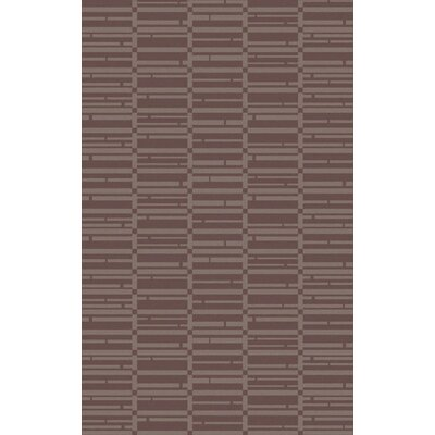 Jone Hand-Tufted Burgundy/Chocolate Area Rug Rug Size: Rectangle 33 x 53