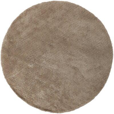 Braun Desert Sand Solid Area Rug Rug Size: Round 8