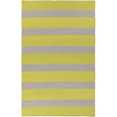 Peugeot Lime/Light Gray Indoor/Outdoor Area Rug Rug Size: Rectangle 2 x 3