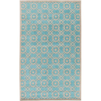 Quenton Aqua Geometric Area Rug Rug Size: Rectangle 5 x 8