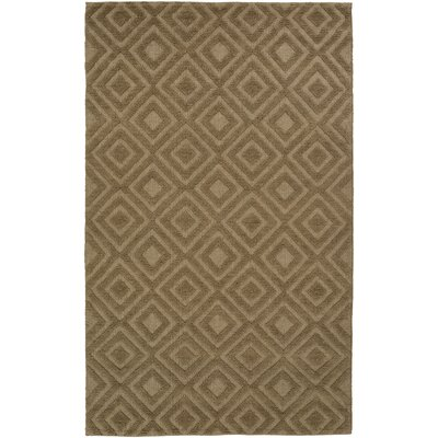 Grasso Hand-Woven Dark Brown Area Rug Rug Size: 8 x 11