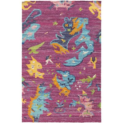 Brianne Hand-Loomed Magenta Area Rug Rug Size: Rectangle 4 x 6