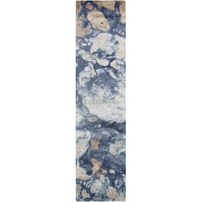 Scylla Cobalt/Light Gray Area Rug Rug Size: Runner 26 x 8