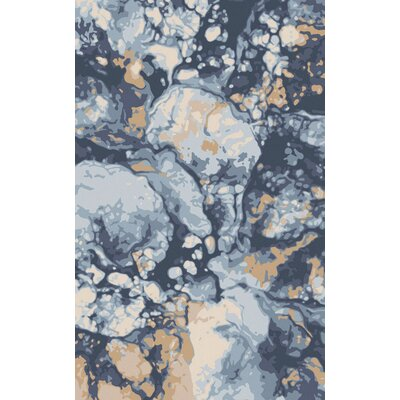 Scylla Cobalt/Light Gray Area Rug Rug Size: Rectangle 8 x 11