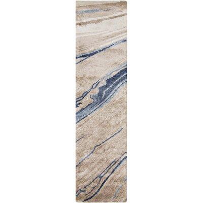 Scylla Navy/Light Gray Area Rug Rug Size: Runner 26 x 8
