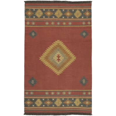 Double Mountain Hand Woven Red Rug Rug Size: 36 x 56
