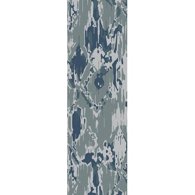 Harbor View Teal/Gray Area Rug Rug Size: Runner 26 x 8