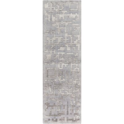 Nicola Light Gray/Mauve Area Rug Rug Size: Runner 26 x 8