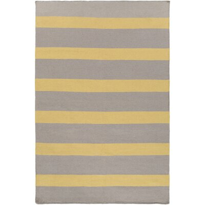 Peugeot Gold/Light Gray Indoor/Outdoor Area Rug Rug Size: Rectangle 2 x 3
