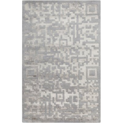 Nicola Light Gray/Mauve Area Rug Rug Size: Rectangle 8 x 11