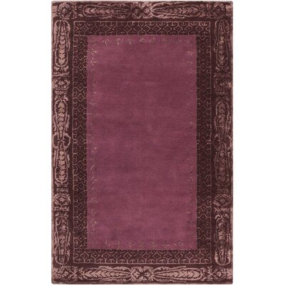 Alessandro Burgundy Area Rug Rug Size: Rectangle 5 x 8