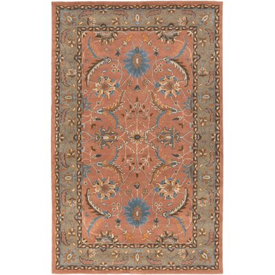 Vickers Hand-Tufted Rust/Charcoal Area Rug Rug Size: Rectangle 33 x 53