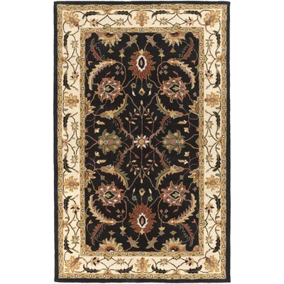 Vickers Hand-Tufted Black/Ivory Area Rug Rug Size: 8 x 11