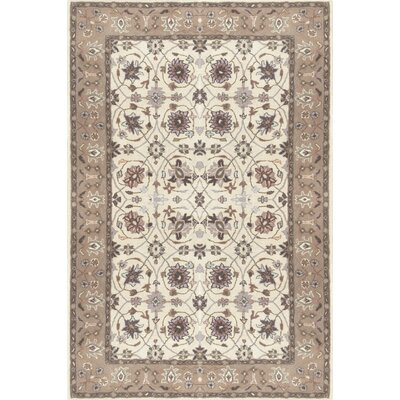 Vickers Ivory/Gray Area Rug Rug Size: Rectangle 8 x 11