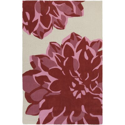 Butner Hand-Tufted Ivory/Carnation Area Rug Rug Size: Rectangle 8 x 11