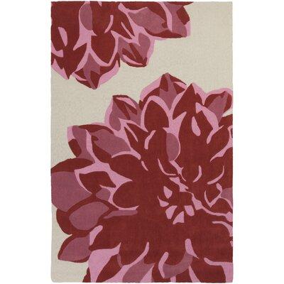 Butner Hand-Tufted Ivory/Carnation Area Rug Rug Size: 8 x 11
