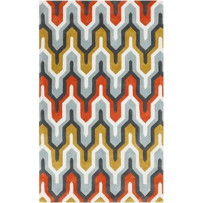 Elisa Orange/Red Area Rug Rug Size: Rectangle 5 x 8